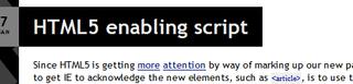 HTML5 Enabling Script