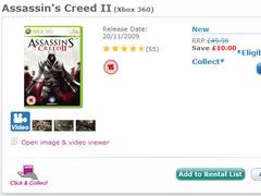 Preço Assassin's Creed 2 na Game UK